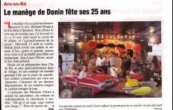 Le manège de Donin fête ses 25 ans